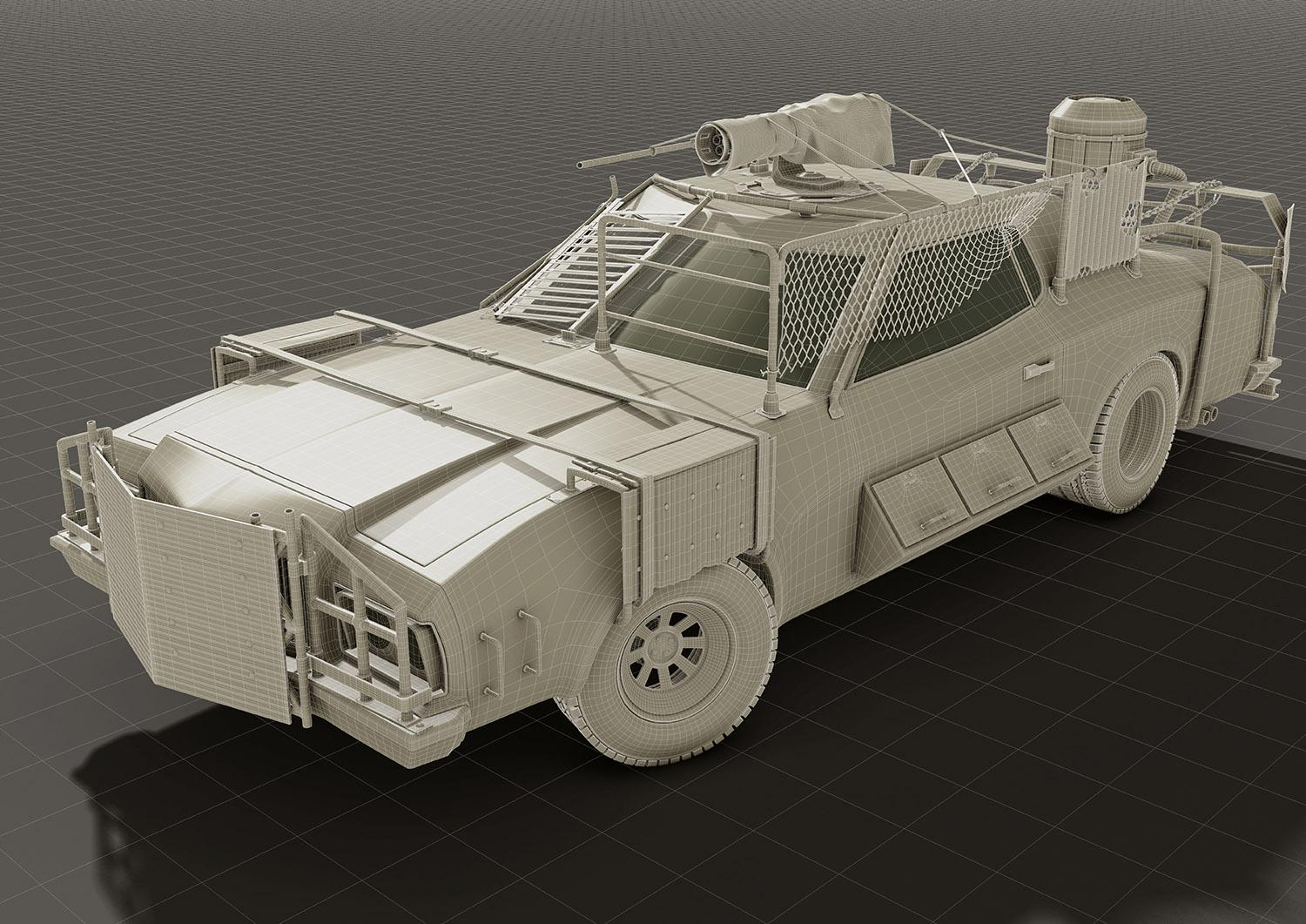 Post-apocalyptic car design · 3dtotal · Learn | Create | Share