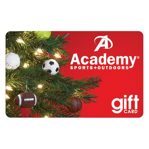Academy Holiday Gift Card Christmas Tree Design Academy