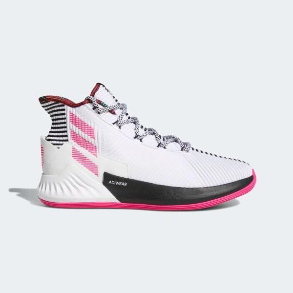 D Rose 9 Shoes Cloud White / Shock Pink / Core Black BB7658