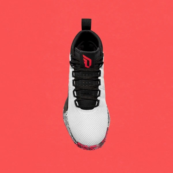 Dame 5 Shoes Cloud White / Shock Red / Clear Mint F36561