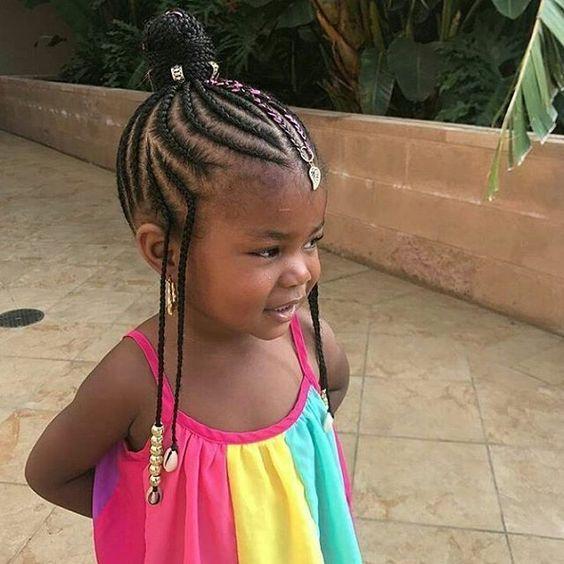 tresses afro pour petite fille