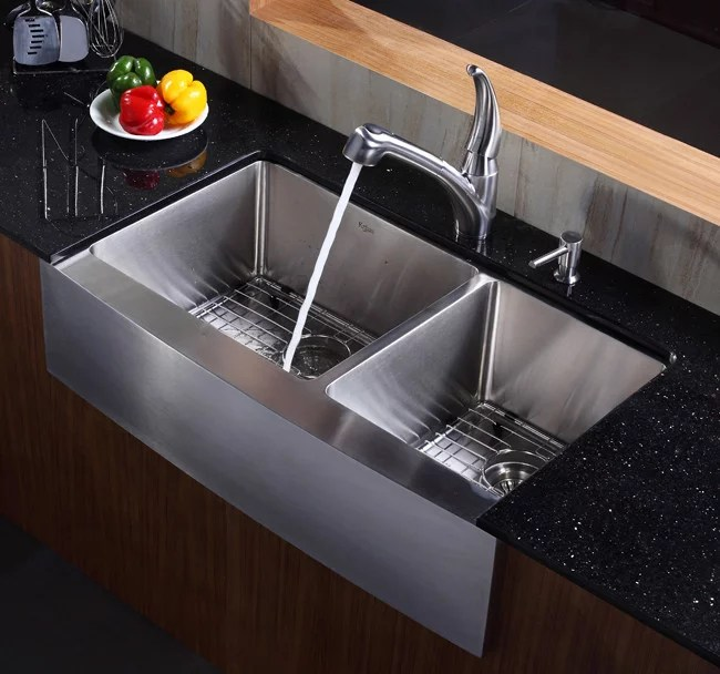 Kraus KHF20336 36 Inch Stainless Steel 6040 Double Bowl
