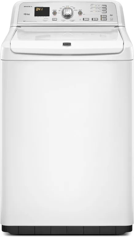 Maytag Mvwb750yw 28 Inch Top Load Washer With 4 6 Cu Ft Capacity 10 Wash Cycles Powerwash Cycle 1 100 Rpm Spin Speed And Intellifill Water Level Sensor