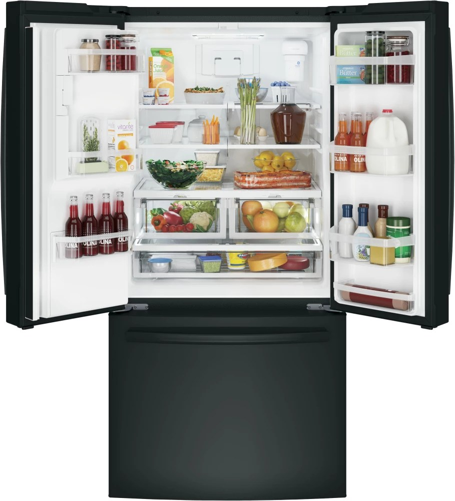 Ge Gfe24jgkbb 33 Inch French Door Refrigerator With Turbo