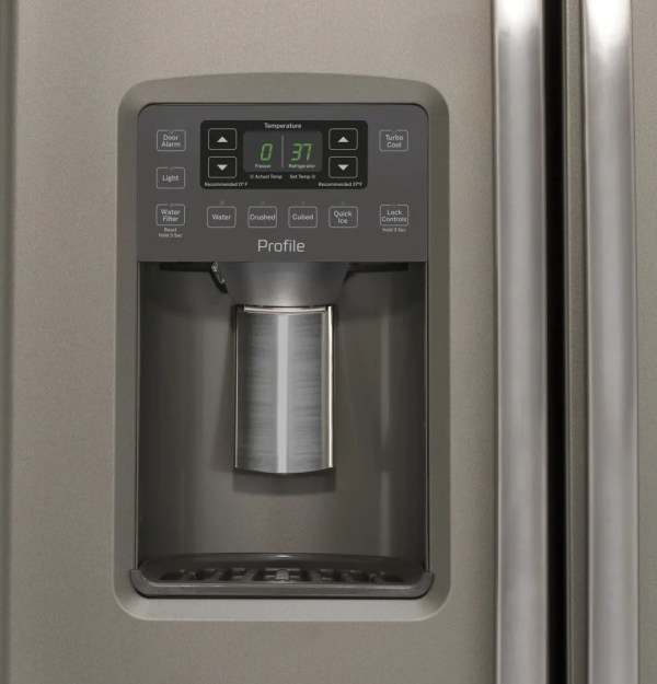 GE PZS22MMKES 36 Inch Side-by-Side Refrigerator with Turbo ...
