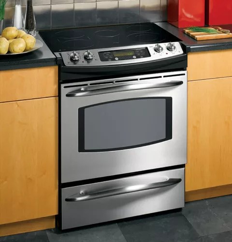 GE JS905SKSS 30 Inch Slide-in Electric Range with 5 ...
