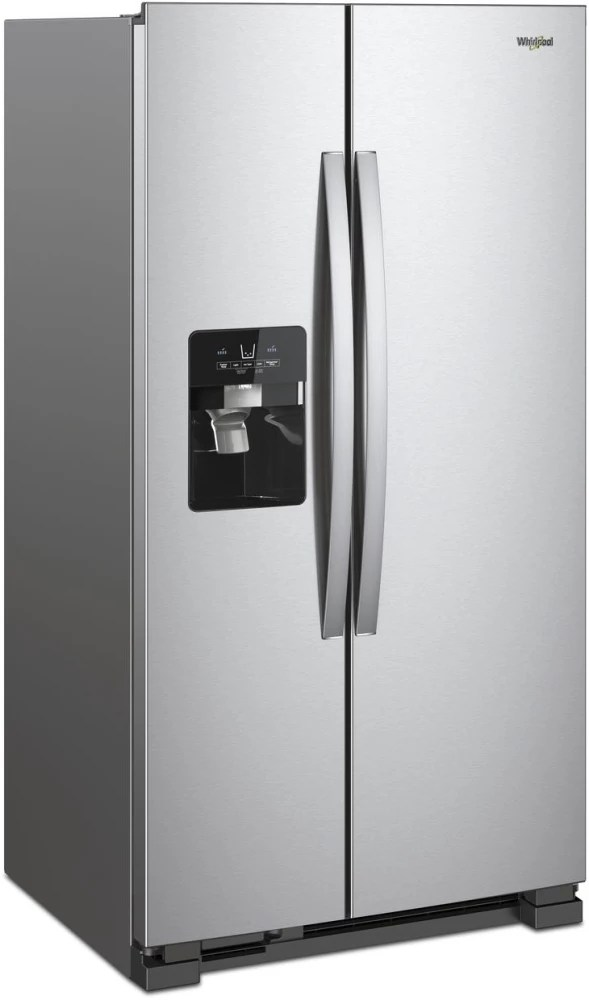 Whirlpool Wrs555sihz 36 Inch Side By Side Refrigerator With In Door Ice Storage Pizza Pocket Infinity Slide Shelf External Dispenser Humidity Controlled Crisper Dairy Center Can Caddy Deli Drawer Factory Installed Ice Maker Led Lighting And