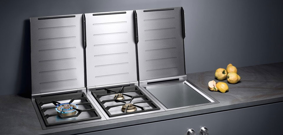 Gaggenau VG424210CA 15 Inch Modular Gas Cooktop With 2 Two Ring Sealed Brass Burners Electronic
