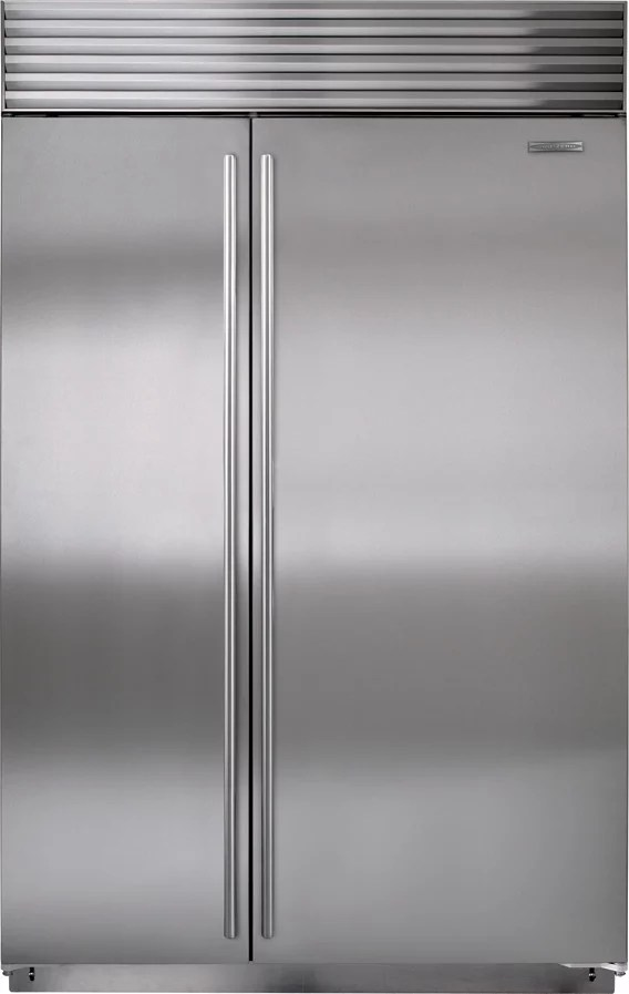 Sub Zero BI48SIDSPH 48 Inch Built In Side By Side Refrigerator With 282 Cu Ft Capacity Dual