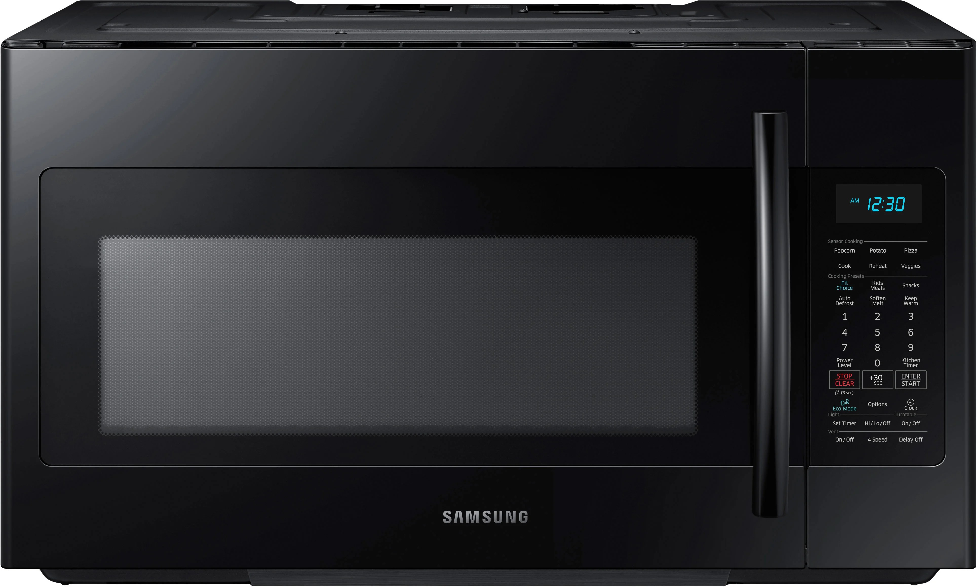 Samsung ME18H704SFB 18 Cu Ft Over The Range Microwave Oven With 1000 Cooking Watts 10 Power