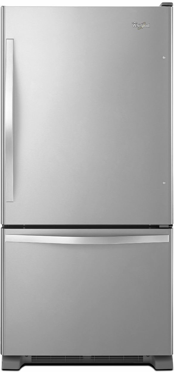 Whirlpool WRB322DMBM 33 Inch Bottom Freezer Refrigerator With 219 Cu Ft Capacity SpillGuard