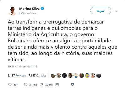 Marina Silva - Twitter, Twitter, https://twitter.com/MarinaSilva/status/1080456658139123712
