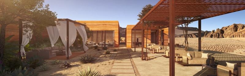 صور مدهشة.. AW2 تصمم منتجع خيم بدوي في صحراء العلا 5