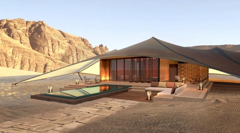صور مدهشة.. AW2 تصمم منتجع خيم بدوي في صحراء العلا 9