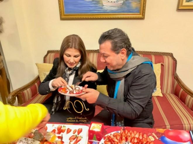 جمهور ماجدة الرومي : ينعاد عيدك وعقبال الـ100