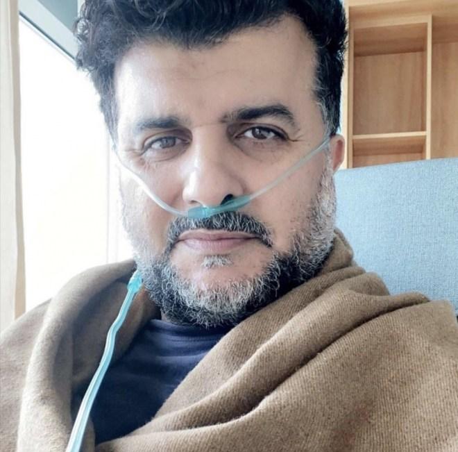 مشاري البلام في العناية المركزة بعد إصابته بـ كورونا