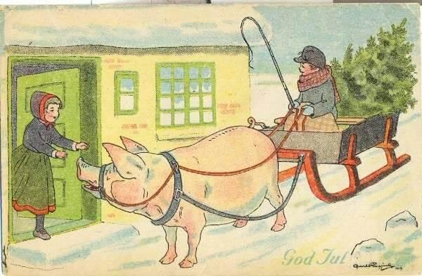 Swedish Card by Carl Rogind (1919)