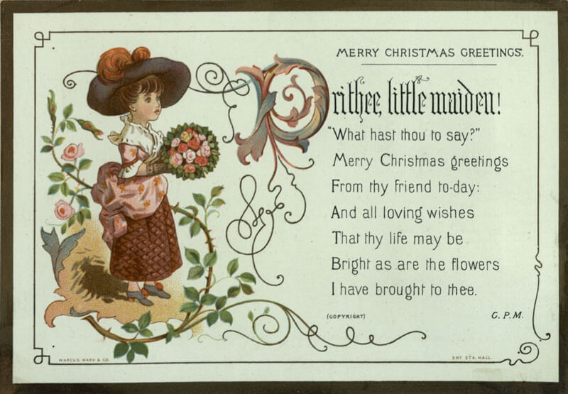 Kate Greenaway Maiden Poem