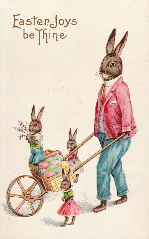 An illustration for the story The Chick Of The Easter Egg by the author William Dean Howells