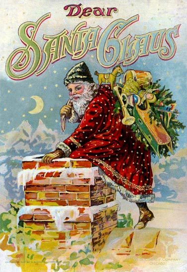 An illustration for the story The Night After Christmas by the author Anonymous