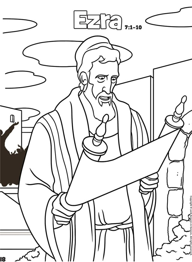 Ezra: Books of the Bible Coloring (Kids Coloring Activity)  Kids