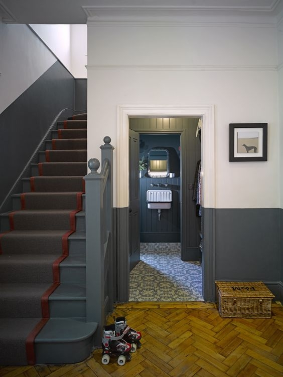 What To Do With Our Bare Stairs – Apartment Apothecary   Carpet Stairs In The Woods   Wilderness   Open Wooden Stair   Glitter   Country House   Traditional