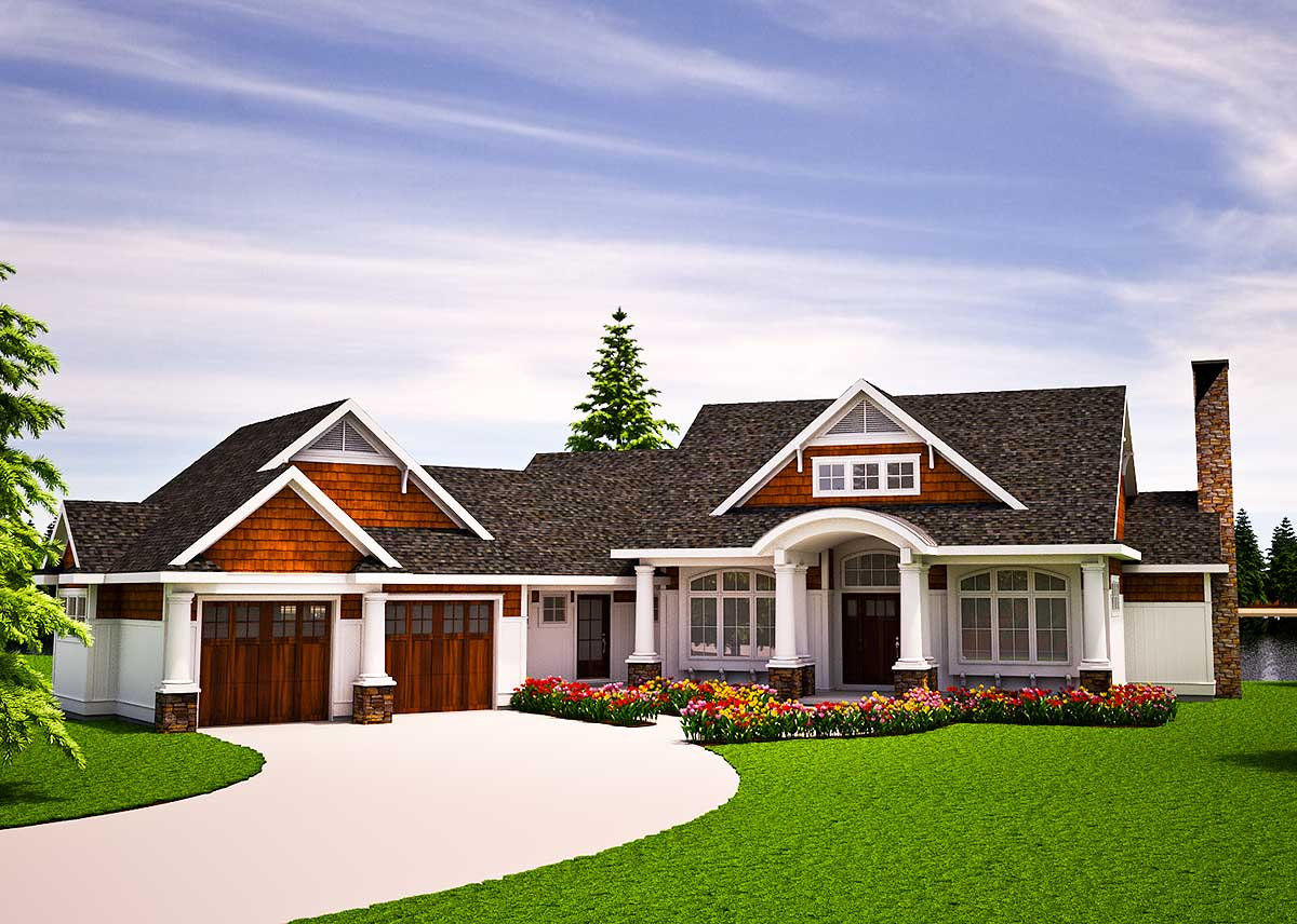 One Level Vacation Home Plan - 18262BE