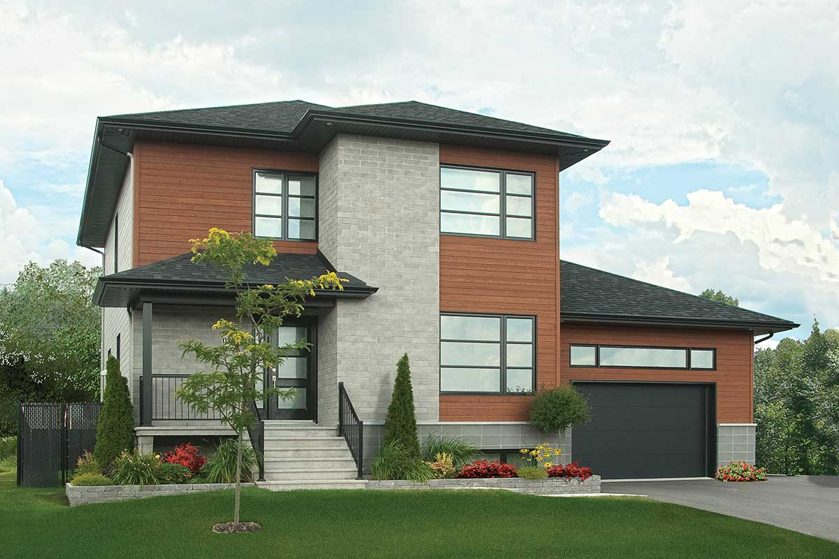 Winning Modern Combination - 22305DR | Architectural ... on Modern House Ideas  id=81538