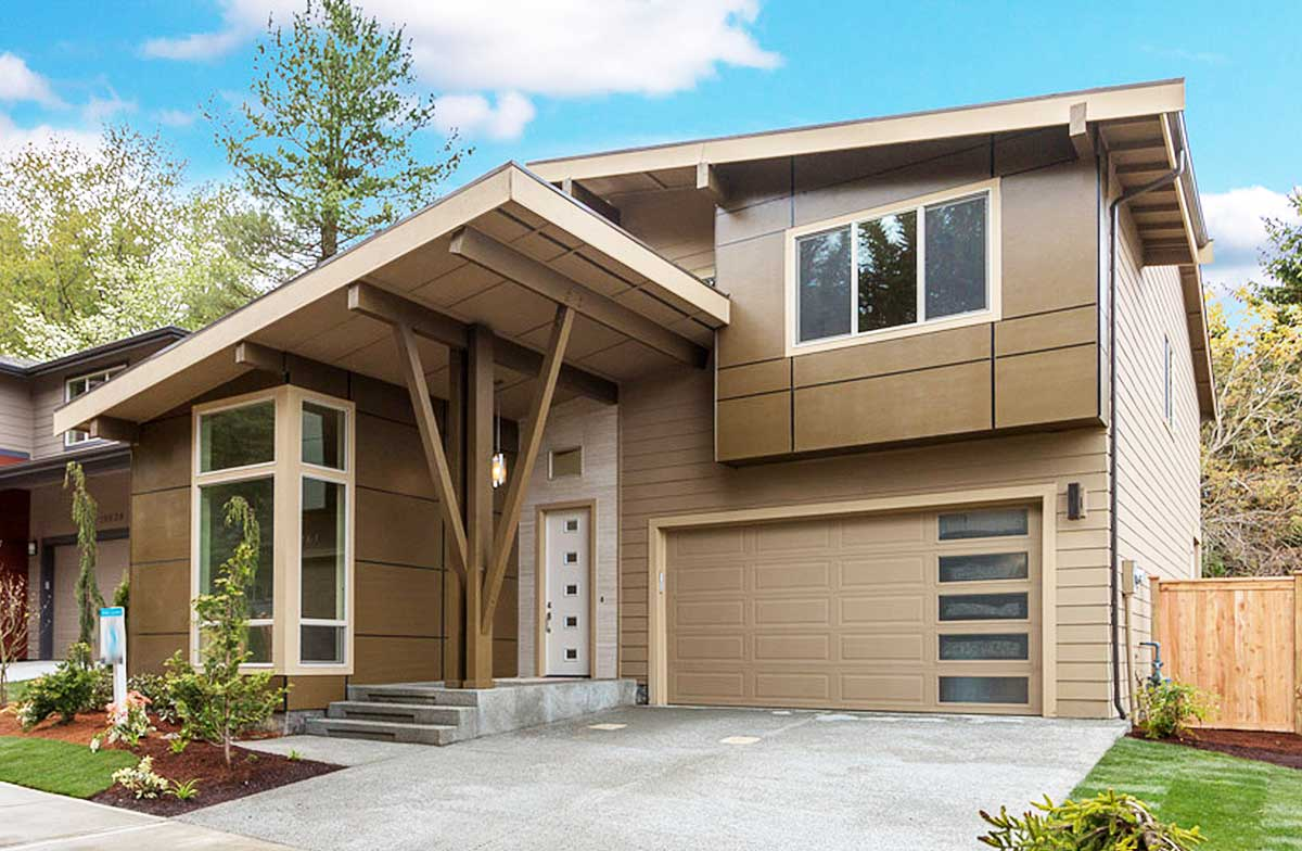 Contemporary House Plan with Vaulted Den - 23605JD ... on Modern House Ideas  id=29195