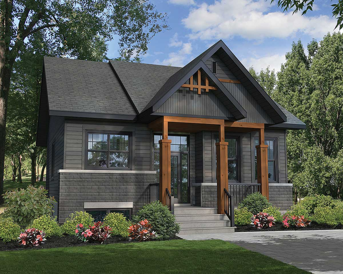 Rustic Two Bedroom Getaway - 80877PM | Architectural ... on House Siding Ideas  id=17527