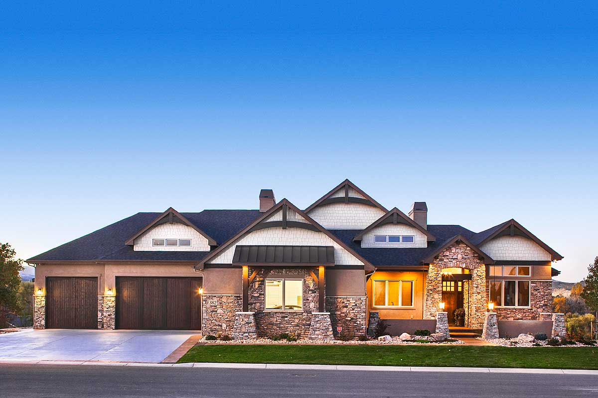 Luxurious Craftsman Home With Car Collector's Garage