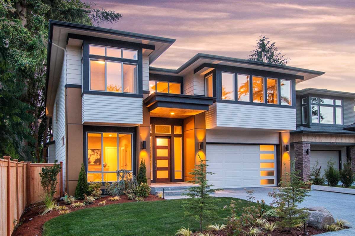 4 Bed Modern House Plan with Glass-Filled Front - 23672JD ... on Glass House Design Ideas  id=51652