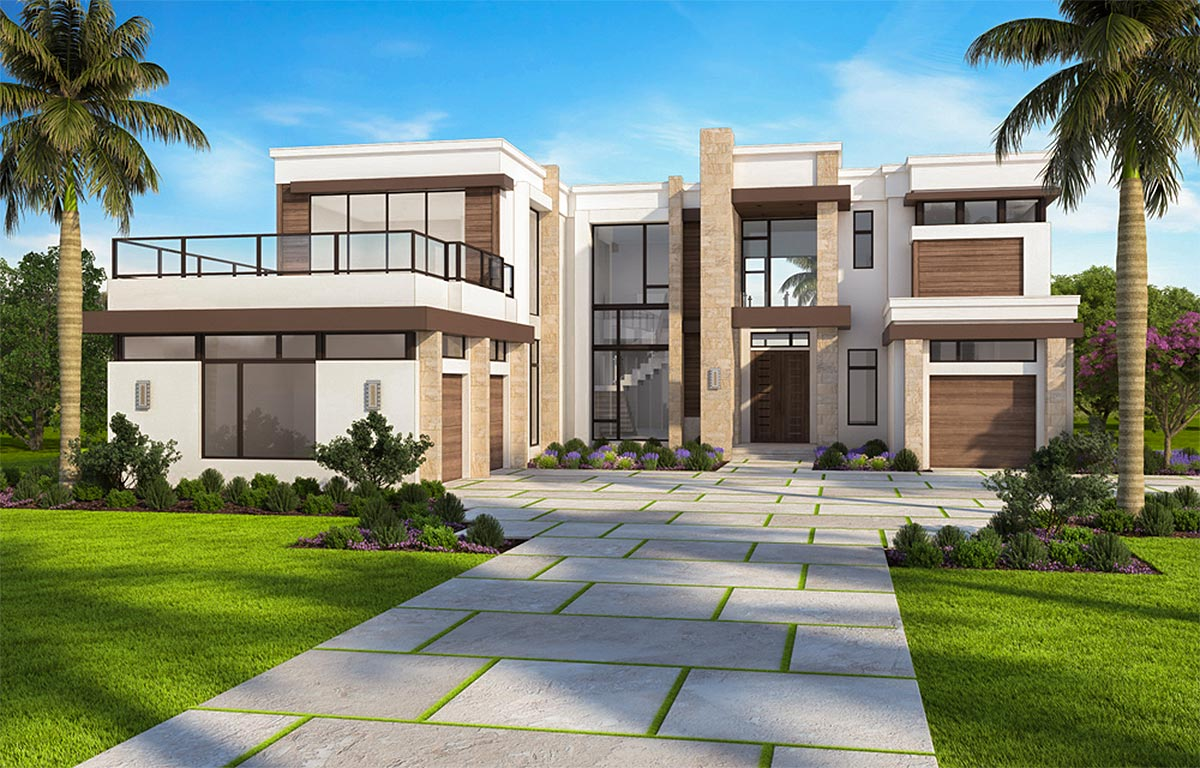 Marvelous Contemporary House Plan with Options - 86052BW ... on Modern House Ideas  id=14316