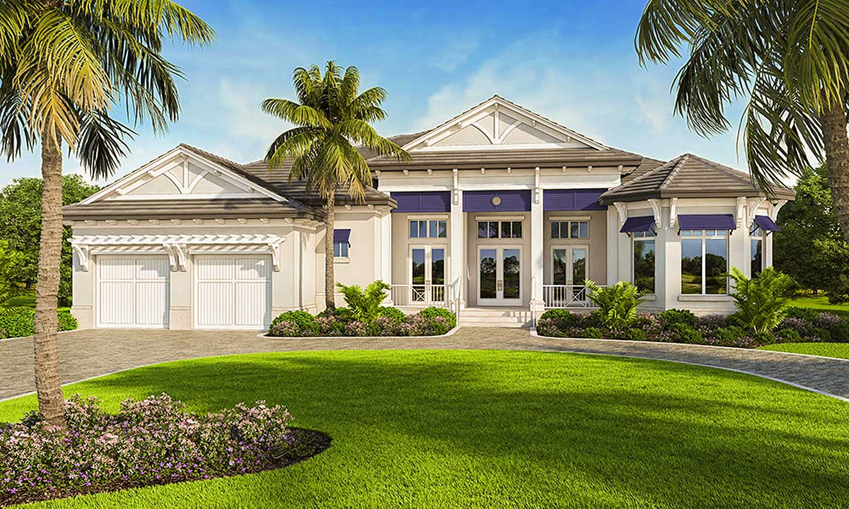Southern House Plan With Indoor-Outdoor Living Spaces ... on Southern Outdoor Living id=12050