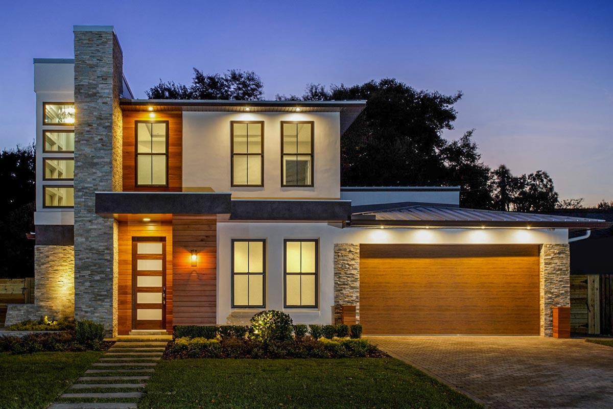 Modern House Plan with Upstairs Activity Room - 82243KA ... on Modern House Ideas  id=54912