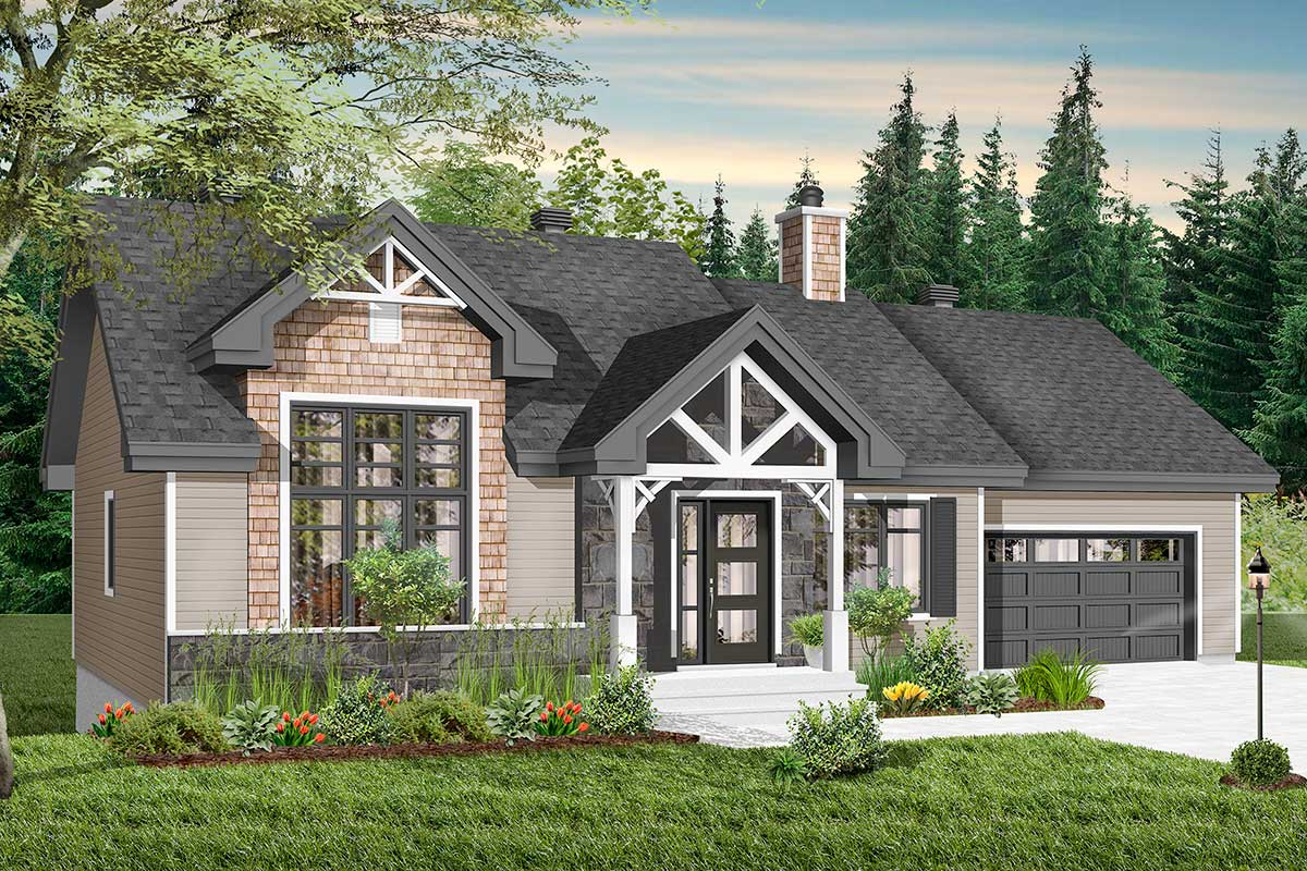 Modern Craftsman with Attached Garage and Optional