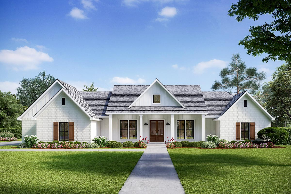 Exclusive Modern Farmhouse with Split Beds and Ample ... on Farmhouse Outdoor Living Space id=28288