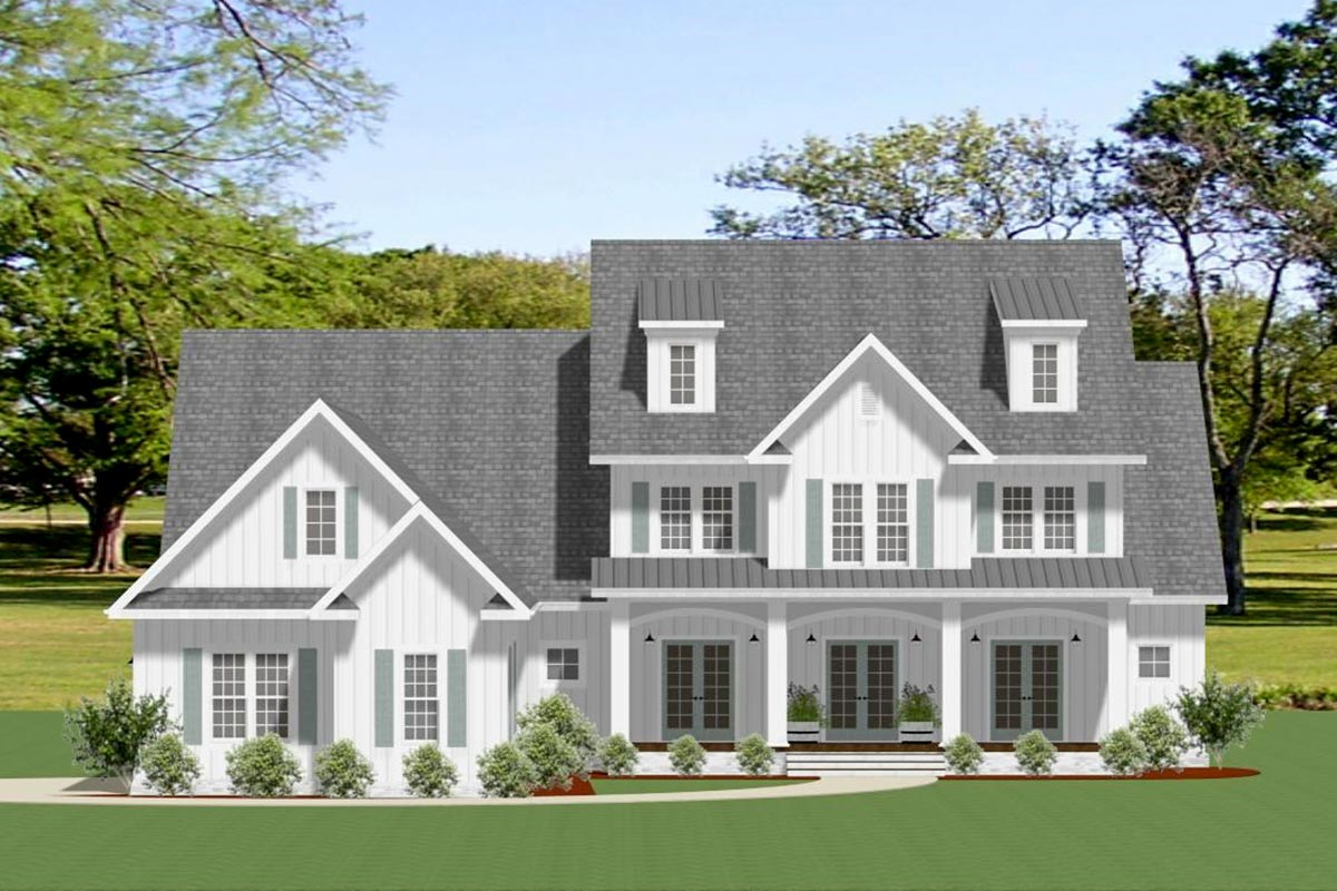 Exclusive Farmhouse Plan with Large Outdoor Living Space ... on Farmhouse Outdoor Living Space id=19066