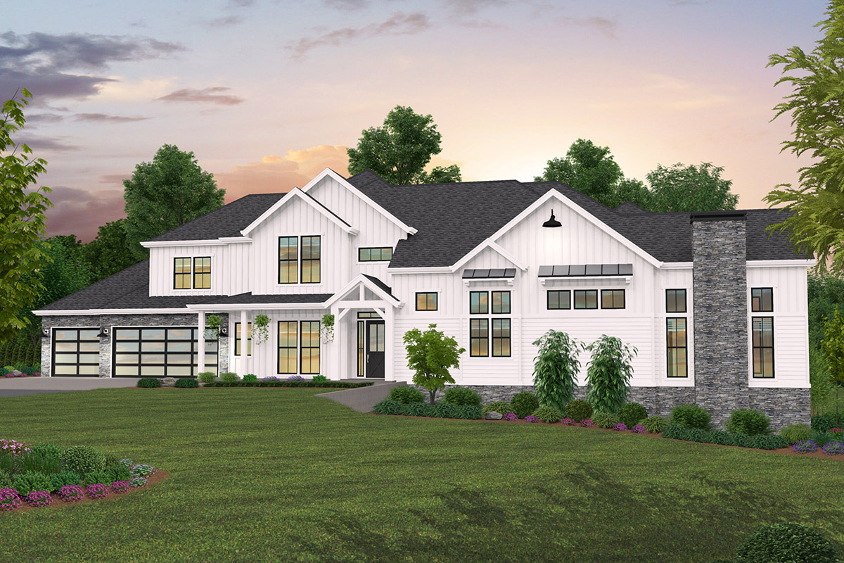 5-Bedroom Farmhouse Plan with Incredible Outdoor Living ... on Farmhouse Outdoor Living Space id=72074