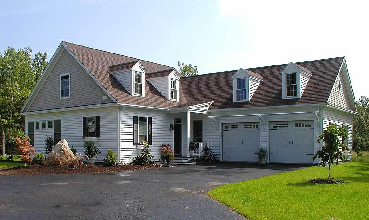 L Shaped Cape Cod Home Plan 32598wp Architectural Designs House Plans