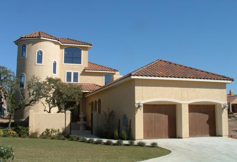 Twin Courtyard Tuscan House Plan 36854JG Architectural