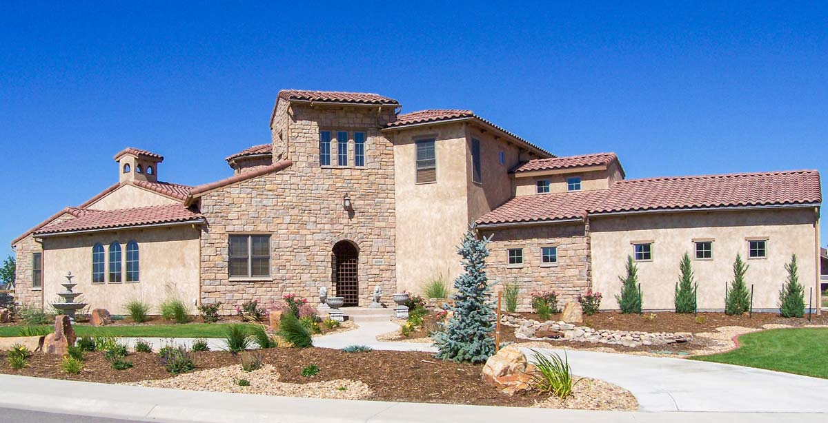 Magnificent Tuscan House Plan 64409SC Architectural