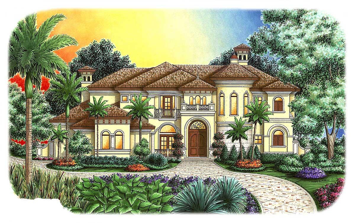 Stunning Tuscan House Plan 66276WE Architectural