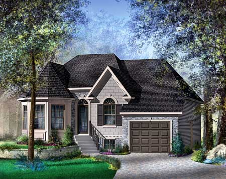 European Style House Plan 80334PM Architectural