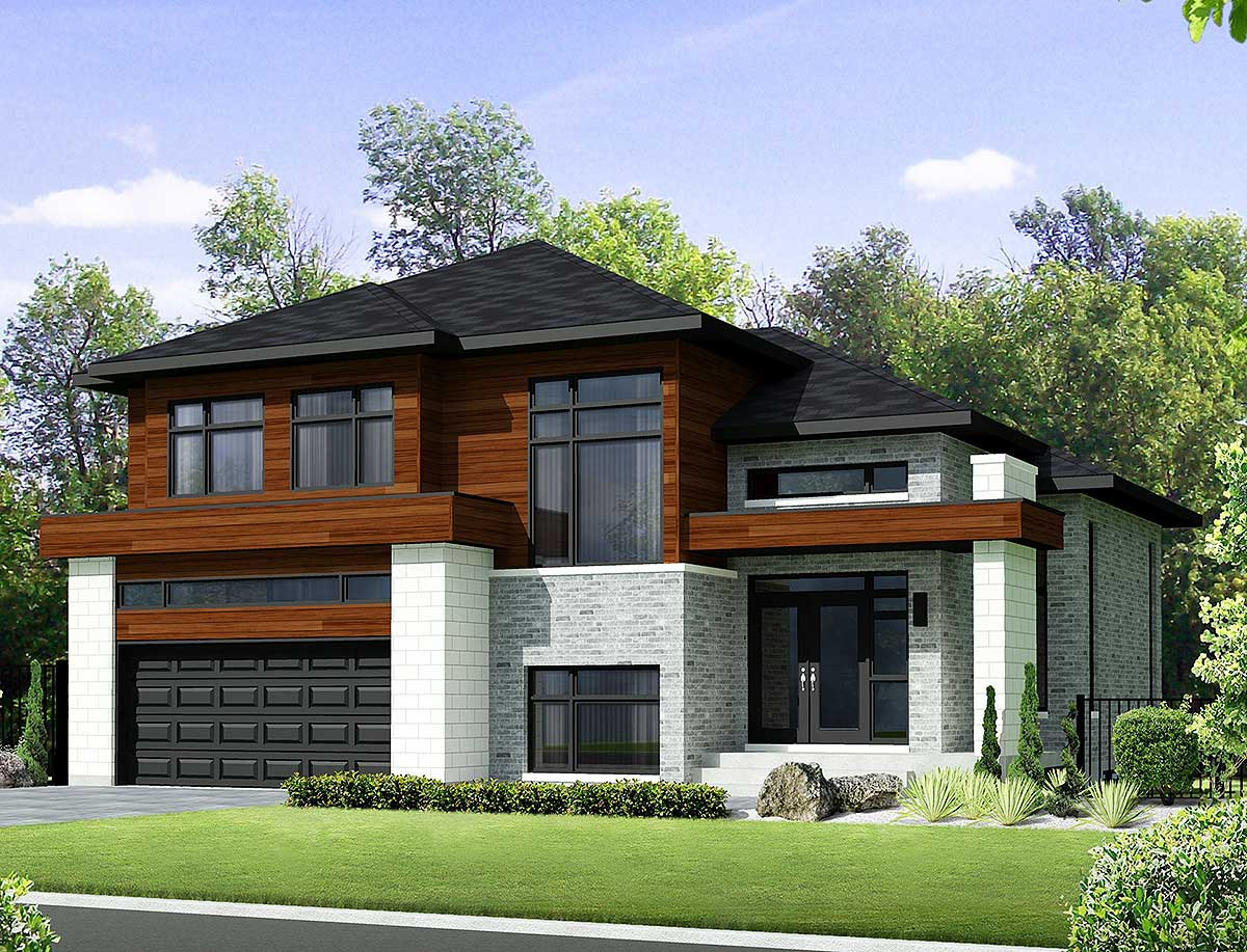 Two-Story Contemporary House Plan - 80851PM ... on Modern House Ideas  id=47724