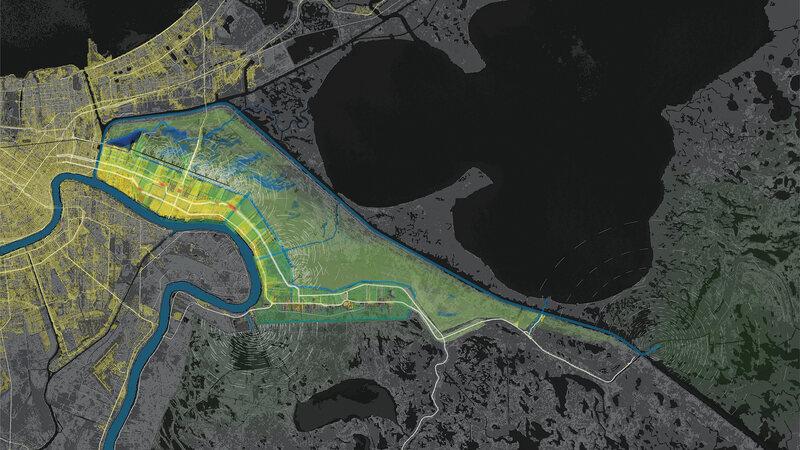 37.6374° N, 122.3601° W,LSU Coastal Sustainability Studio, Bayou Bienvenue, 2010.