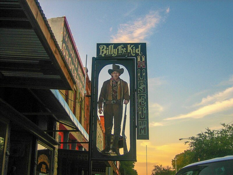 Sign for the Billy the Kid Museum in Hico, Texas.