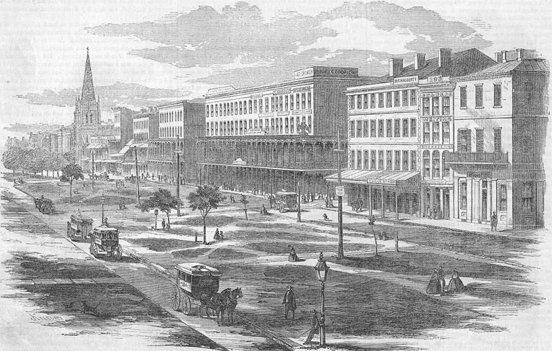 Canal Street, New Orleans, where Dunn once lived.