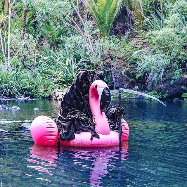 The Swim Reaper in his element.