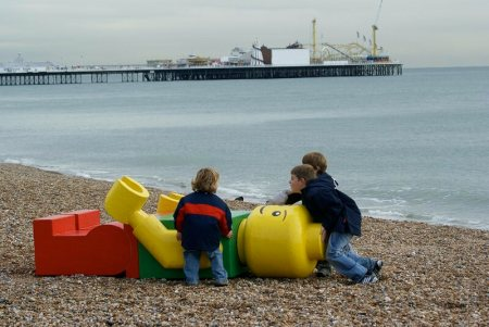 """Ego Leonard,"" a giant Lego figure that kept showing up on beaches around the world, turned out to be an art project."